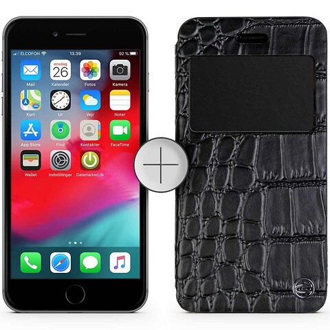 Apple iphone 6S 128GB (space gray) - grade c - gratis krokodilleskindscover - mobiltelefon