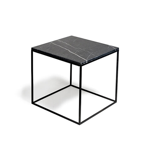 Sofabord marmor square - 5540S - metalstel b