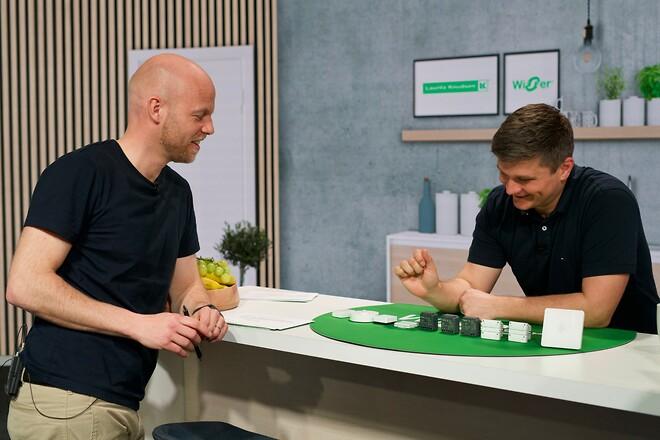 David Guldager og Martin Hannibal taler om Smart Home-systemet Wiser