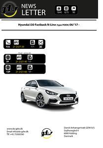 Hyundai i30 Fastback N-Line (type PDEN) 06/'17  Anhængertræk fra Dansk anhængertræk GDW