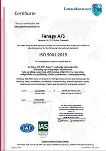ISO 9001 certifikat - Fenagy A/S