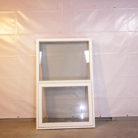 Tophængt vindue, træ, 009469