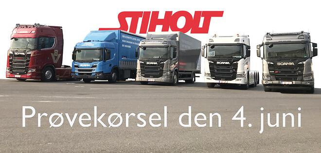 demokørsel af Scania modeller hos Stiholt. Prøvekørsel ny Scania