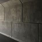 Rene betonvægge i Hernings fire tunneller ved Storcenteret