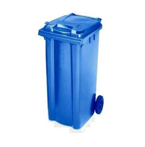 Affaldscontainer 2-hjulede 140 l - blå