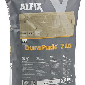 Alfix DuraPuds 710: Hæfte- og tyndpuds. Fås i hvid og grå