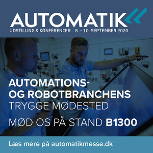 Automatik messen 2020 \nAVN Teknik deltager den 8.-10. september. Stand B1300