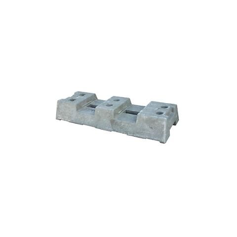 Genbrugsfod til byggepladshegn m/ø 40 mm huller