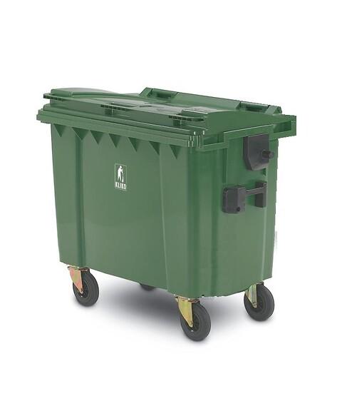 Affaldscontainer 4-hjulede 500 l - grøn
