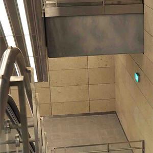 RIMO Metro flugtvejsarmatur i trappeopgang - Marmorkirken metrostation