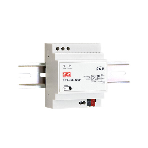 KNX-40E 1280 mA strømforsyning til KNX applikationer -- Power Technic - KNX-40E fra MEAN WELL. Forhandler er Power Technic. Ring 70 208 210
