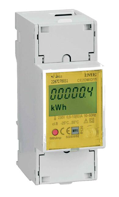 2 moduls MID energimåler