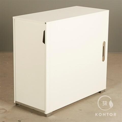 Kontorskab. hvid med endeudtræk. højrevendt. højde: 83 cm