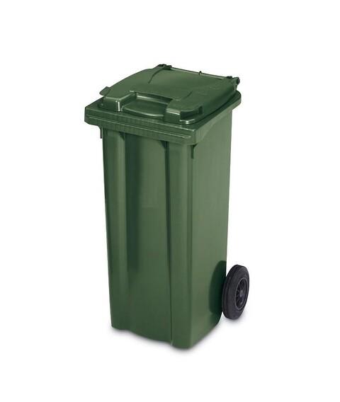 Affaldscontainer 2-hjulede 120 l - grøn