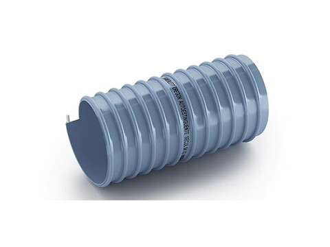 Ventilationsslange ø 75 blå grå pvc slange