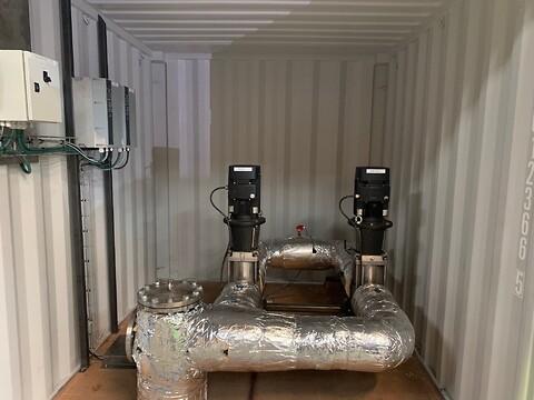 Komplet pumpestation til salg eller leje