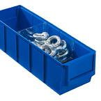 Blå plukkekasse til reol