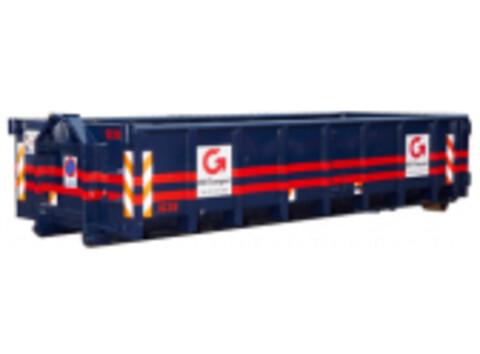 Åben 16m³ containere NemGrus.dk