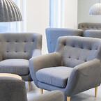 Kontorindretning erhverv kontor indretning lounge sofa lænestol loungeområde