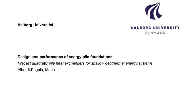 Energipæle energy piles