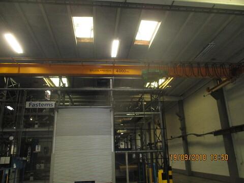 Brugt Traverskran 4 ton Stahl x 12,980 mtr spænd sælges fra stålspecialisten
