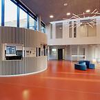 Troldtekt akustik. Hälsoframjande arkitektur. Psykiatrisjukhus i Vejle, Danmark