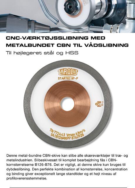 CNC-værktøjsslibning med metalbundet CBN til vådslibning af højlegeret stål og HSS.