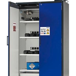 Brandsikkert skab fra DENIOS til lithiumbatterier