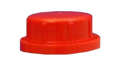 Kapsel Ø32 m/konus/låsering/grovrillet - rød