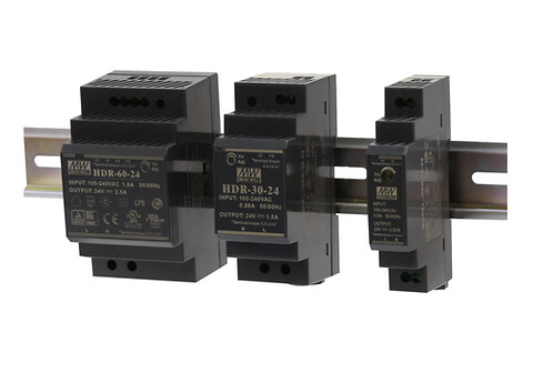 Kompakt DIN skinne strømforsyning 15-150W