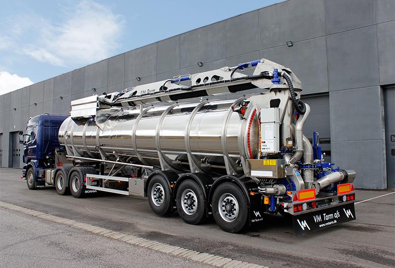 VM Tarm a/s leverer gylletrailer til Norge - Transportmagasinet