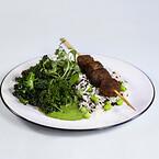 Veganask, klimasmart alternativ, grønne retter. pease boller