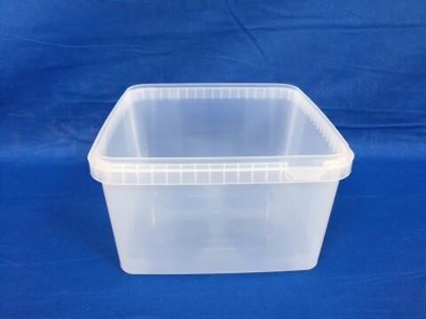 Plastbøtte 5544-3000 ml.- frysekvalitet - natur
