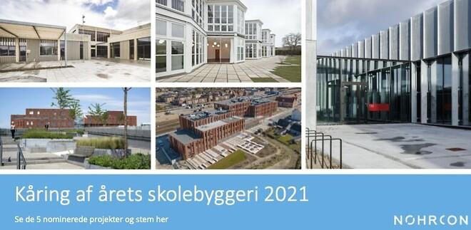 Kåring af årets skolebyggeri 2021 - Nohrcon