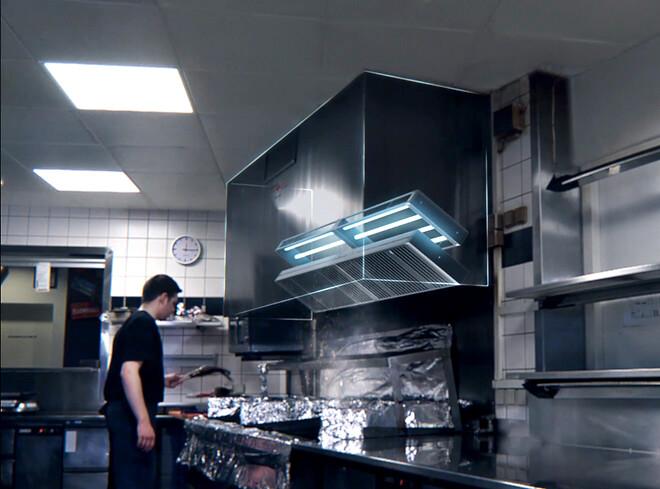 Fjern fedt og olie i storkøkkener