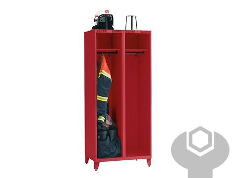 Bs brandmandsskab bs 21 - 4055 - ral 7024