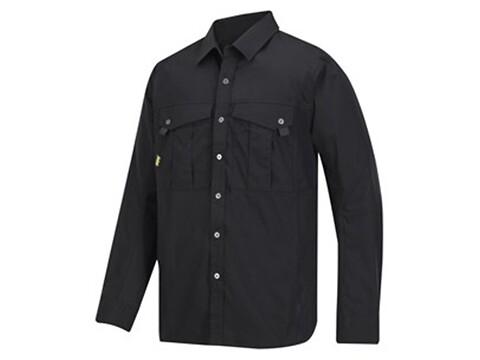 Skjorte rip-stop sort - str. s