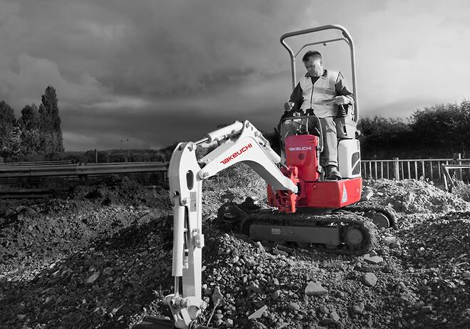 Øbakke A/S præsenterer blandt andet Takeuchi gravemaskiner på Kloakmessen i Fredericia.