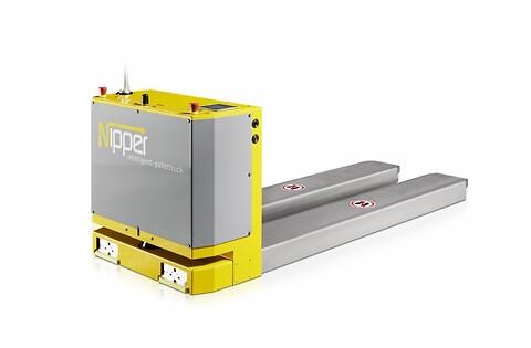 Nipper AGV for intelligent palletransport