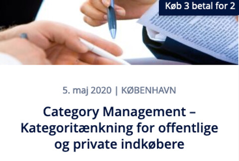 Category Management – Kategoritænkning for offentlige og private indkøbere - Category Management – Kategoritænkning for offentlige og private indkøbere - Nohrcon - kursus