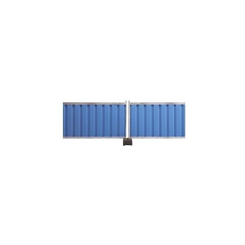 Mobile skærmhegn blå/gul 2,2x1,2 m
