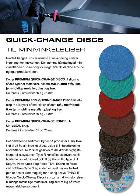 PREMIUM QUICK-CHANGE DISCS til minivinkelsliber, i 3 kvalitetslinier - Discs, SCM og Rondel