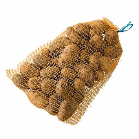 Butik/Potatis och grönsaker Nätsäck 5kg, Brons med knytsnöre - Nätsäck - 5kg