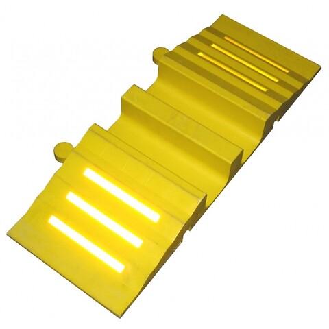 Slange- og kabelbro gul