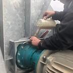 Gear på LSM150 pumpe på halvøen HEL