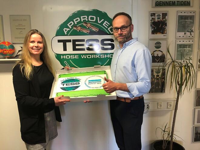 ISO 9001 certifikat til TESS Esbjerg