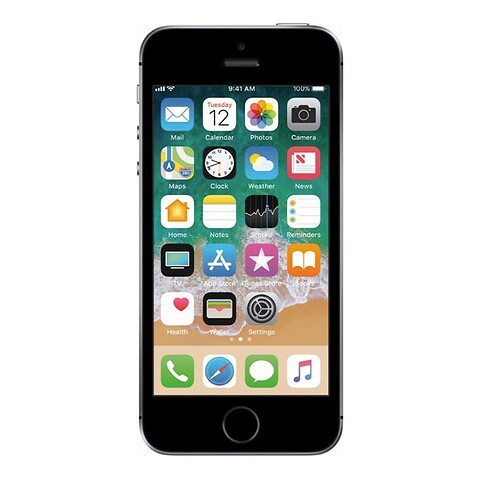 Apple iPhone SE 128GB (Space Gray) - Grade A - mobiltelefon