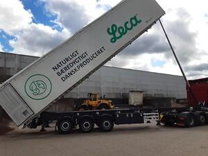 85 m3 alu tiptrailer tilDanskBiotransport A/S.