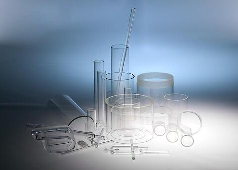 Glasrør og glas stænger efter opgave