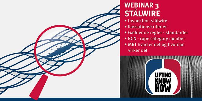 Webinar om kassation og inspektion af stålwire